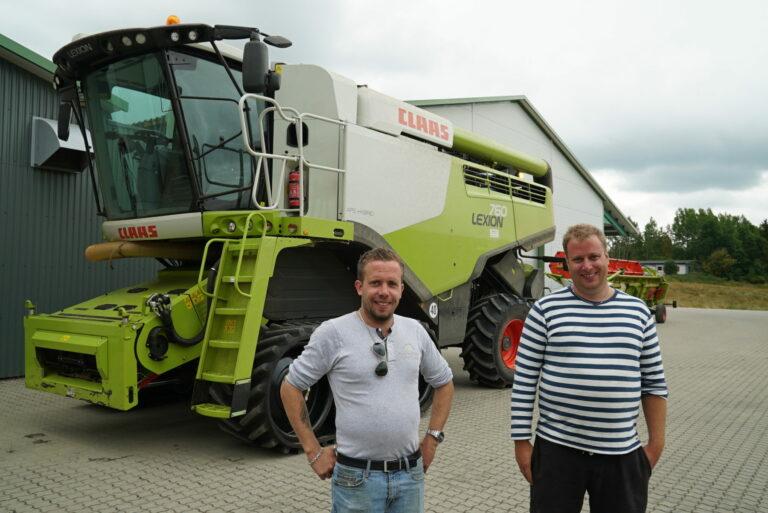 Familiebedriften Kjølsrød Drift AS drives av Jørgen, Agnar og Hans Johan Kjølsrød. Her de to førstnevnte.