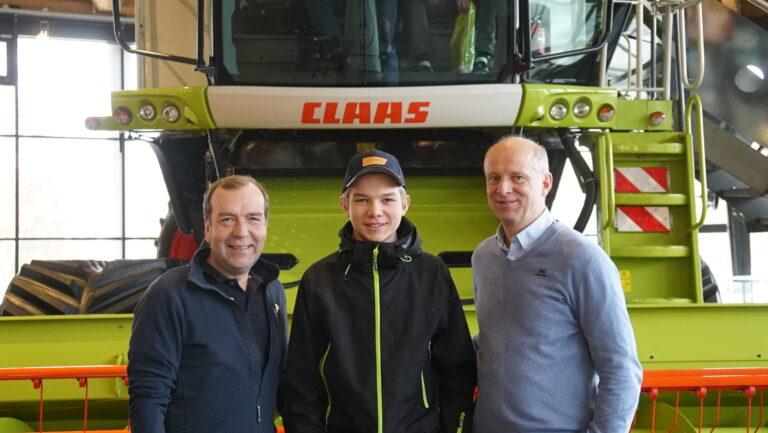 Svein Bjerke, Ole Kristian og Erling Hjørnegård synes alle det var interessant å besøke CLAAS og Lemken.