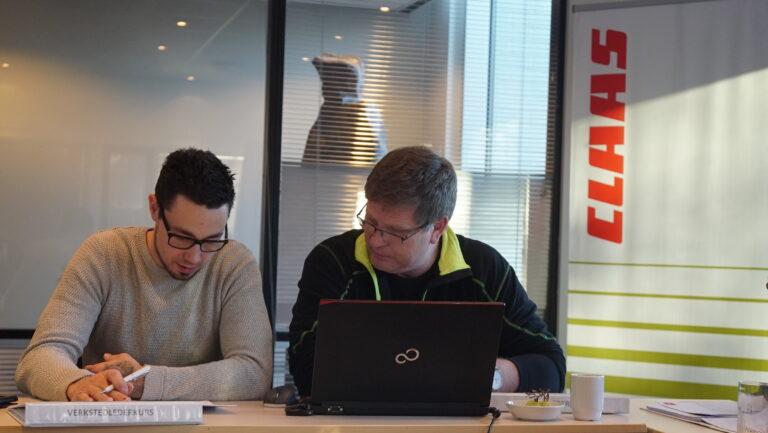 Lasse Nedgården og Erik Bergum, verkstedledere for henholdsvis Lena Maskin avdeling Våler og Lena.