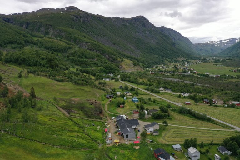 Utsikt innover Kåfjorddalen.