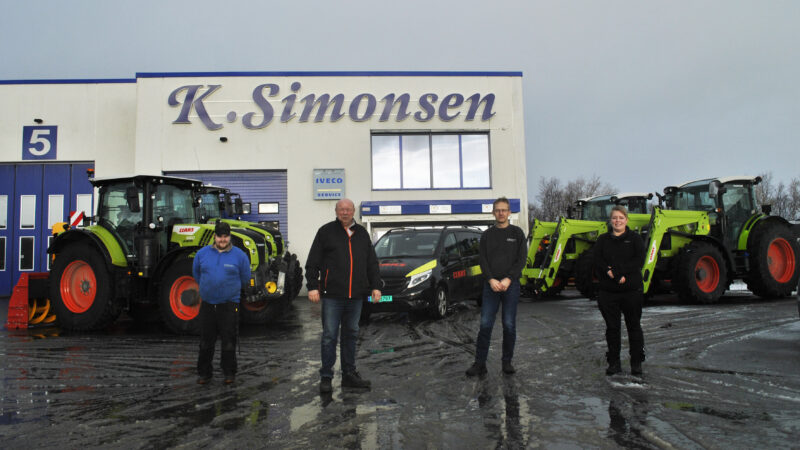 Salg av CLAAS tilbake i Harstad